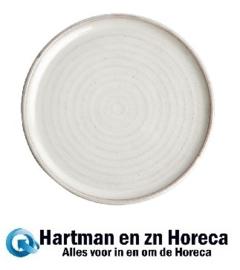 FA331 -Olympia Canvas ronde borden met smalle rand wit 26,5cm -6stuks