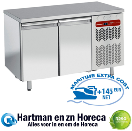 TP2N/H-R2 Koelwerkbank patisserie 4 deurs 2542 x 800 xh900 Diamond
