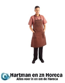 BB202 -Chef Works Urban Dorset kort schort roestbruin
