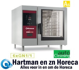 SBGS/XC-06 - Combisteamer Gasoven met boiler 6 x GN 1/1+ Cleaning DIAMOND