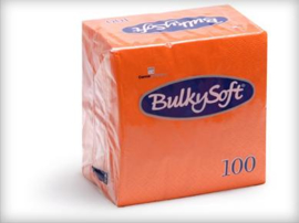 T32600 - Bulkysoft Servet 2 Laags 24×24 1/4 Vouw 3000st Oranje