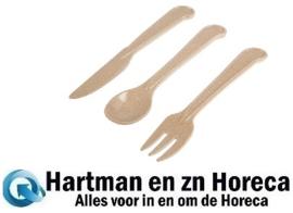 DE930 -Herbruikbare rijstvlies bestekset - mes, vork en lepel in juten tasje