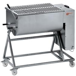 MCR-120P/N - Vleesmenger in R.V.S. 120 kg, onderstel op wielen