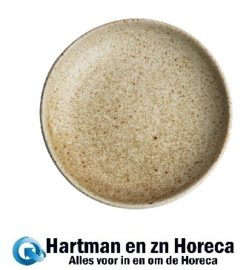 FA341 -Olympia Canvas diepe coupe borden crème 23cm 6stuks