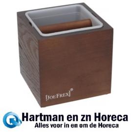 1411480763 - Koffie afklopbak Hout / Kunststof Classic Afm : 132x132x135 mm