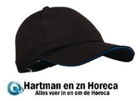 B171 - Chef Works Cool Vent baseball cap zwart en blauw
