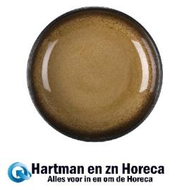 CW528 -Olympia Nomi ronde tapasdipschaaltjes geel-zwart 9,5cm