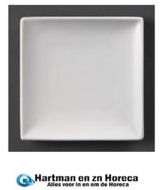 U156 - Olympia vierkant bord Wit 29,5cm. Prijs per 6 stuks.