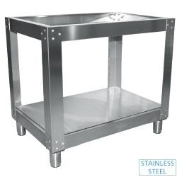 SFP/4-GX - Onderstel (R.V.S.), voor oven 4 pizza's voor EFP/4R