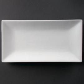 CC896 - Olympia  rechthoekige serveerschaal Wit 38 x 20 cm. Prijs per stuk.