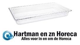 U225 - Vogue polycarbonaat bak transparant GN1/1 100mm