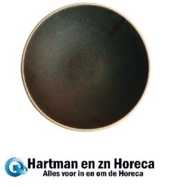 FA326 -Olympia Canvas ondiepe schalen donkergroen 20cm -6stuks