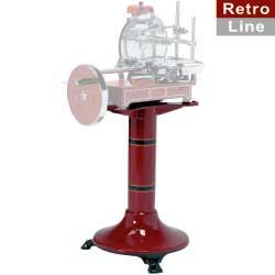 SU-RET - Gietijzeren sokkel voor snijmachine RETRO (fel rood) DIAMOND