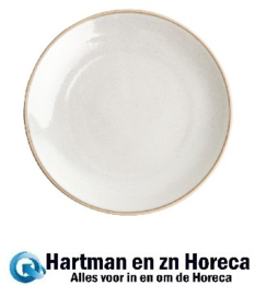 FA332 -Olympia Canvas gewelfde borden wit 27cm 6stuks