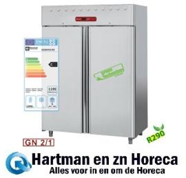 AD2N/H2-R2 - Dubbeldeurs koelkast 1400 liter geventileerd, 2 deuren GN 2/1 DIAMOND