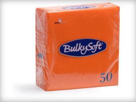 T32710 - Bulkysoft Servet 2 Laags 33×33 1/4 Vouw 1200 stuks Oranje