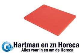 HC877 -Hygiplas LDPE snijplanken rood