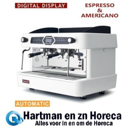 AROMA/2EW - Espresso machine 2 groepen, automatisch (met display) - WIT DIAMOND