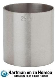 K497 - RVS barmaatjes 25 ml