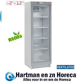 DRINK-38SE/R6 - Geventileerde dranken koelkast positieve T° vitrine 380 Liter DIAMOND