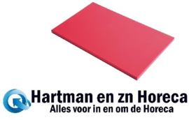 GN343 - Gastro M GN1/1 HDPE snijplank rood