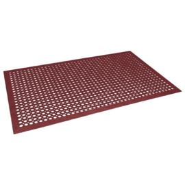 GF017 - Jantex rubberen anti-vermoeidheidsmat rood