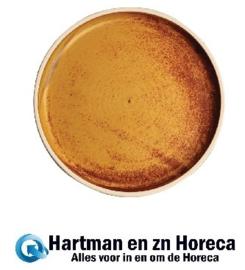 FA307 -Olympia Canvas platte ronde borden roestoranje 18cm