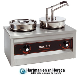 921462 - MaxPro foodwarmer - 2 pannen, 1 dispenser