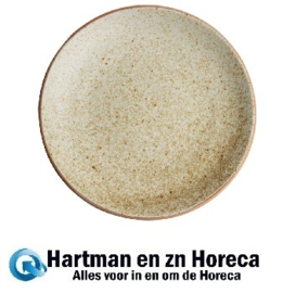 FA339 -Olympia Canvas gewelfde borden crème 27cm -6stuks