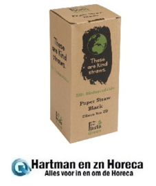 DE926 -Fiesta Green composteerbare papieren rietjes zwart