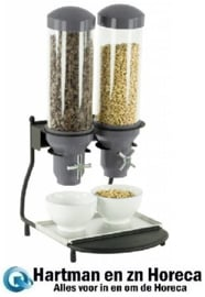 CDC2 - Graandispenser Metaal 2 ABS Buizen 2 x 3 Liter CASSELIN