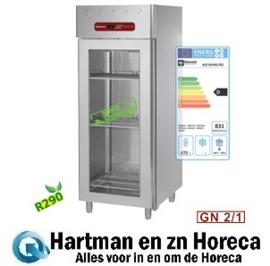 AD1N/HG-R2 - Koelkast 700 liter geventileerd, 1 glazen deur GN 2/1 DIAMOND
