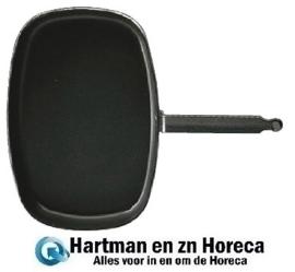 E831 - Matfer rechthoekige vispan met anti-aanbaklaag 38 cm