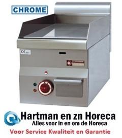 """E60/PLCD3T -  Elektrische bakplaat met vlakke plaat """"chroom"""" -Top- Diamond Pro 600"""