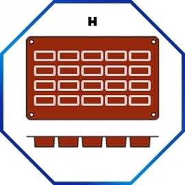 070057 - BAKMAT 49 X 26 MM / HOOG 11 MM 1/3 GN in blister-verpakking