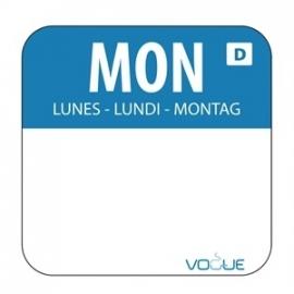 U777 - Oplosbare voedselstickers maandag (rol 1000)