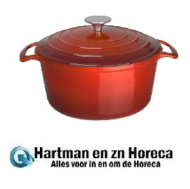 GH305 - Vogue ronde braadpan 4 ltr rood