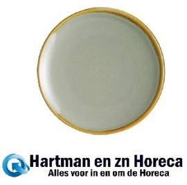 FA029 -Olympia Kiln ronde coupeborden mosgroen 17,8cm