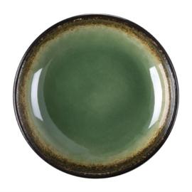CW526 -Olympia Nomi ronde tapasdipschaaltjes groen-zwart 9,5cm