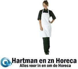 A923 -Chef Works halterschort wit