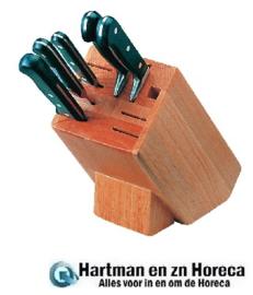 D738 - Vogue houten messenblok 9 sleuven