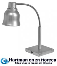 508015 - Warmhoudlamp RVS - 230Volt - H65 x L22 x B22 cm