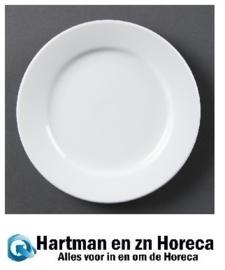 CB482 - Olympia Whiteware borden met brede rand - 28cm. Prijs per 6 stuks.