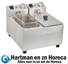 DB203 - Buffalo dubbele friteuse 2x3Liter - 2000 Watt