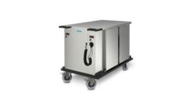 0163316 -  SPTW-2/16 HH roestvrijstalen voedseltransportwagen, ventilator verwarmd