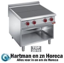 E9/4SPA8 - Elektrisch fornuis met 4 verlaagde kookplaten op open kast DIAMOND