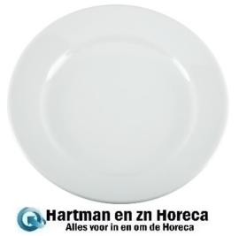CB480 - Olympia Whiteware borden met brede rand - 23 cm. Prijs per 12 stuks.
