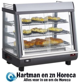 688078 - Caterchef Warmhoudvitrine - 680x490x660 mm (bxdxh)