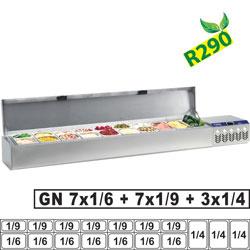 SX219G/CR2 - Gekoelde structuur GN 3x 1/4, 7x 1/6, 7x 1/9, met deksel DIAMOND