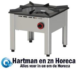 RGH-50 - Lage gasbrander, 1 vuur (13Kw) mm (BxDxH) : 500x500xh450 DIAMOND